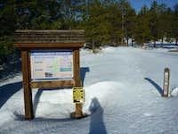 Brownscreek Trailhead at the base of Mt. Antero