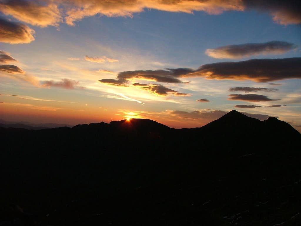 Sunrise. Greys / Torreys Peaks.