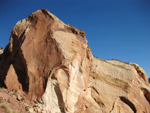 Rock Face off the Burr Trail