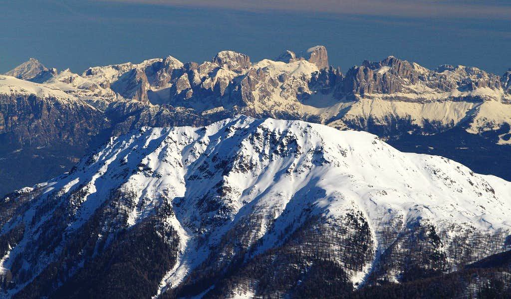 close-up with Dolomites