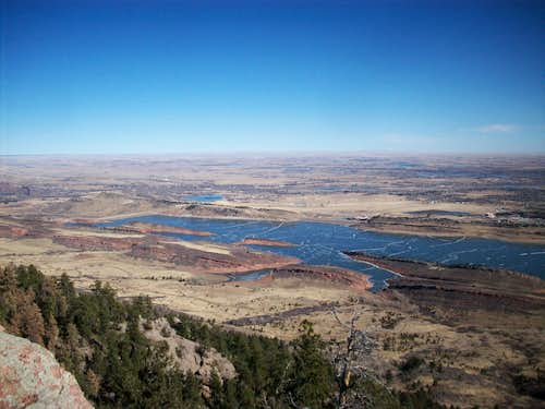 Horsetooth Reservoir and N. Fort Collins