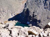 Chasm Lake from the summit of...