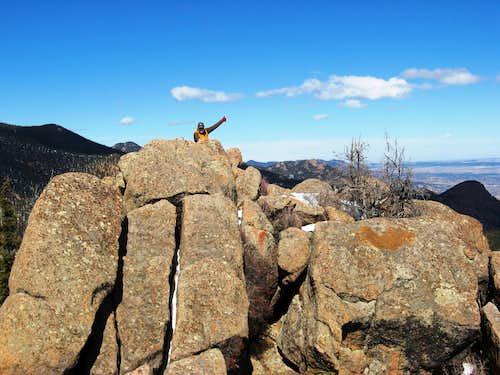 Dad on San Luis summit
