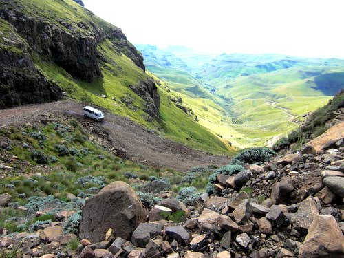 Down Sani Pass