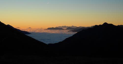 Sunrise at Hagener Hütte