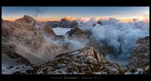 Triglav burning
