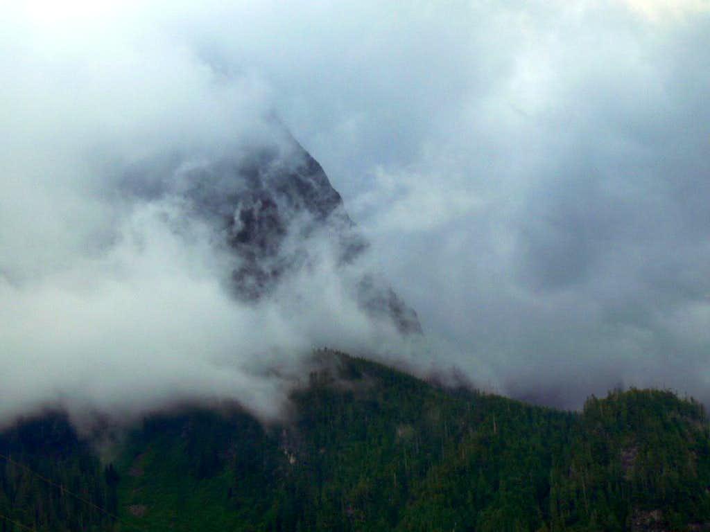Mount Index through the Fog