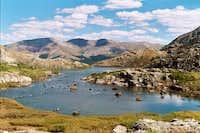 Lower lake in McCullough Gulch.