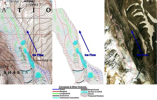 Determining Crevasses from a Topo Map
