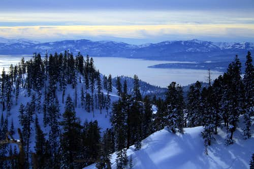Lake Tahoe from the slopes of Rose Knob Peak