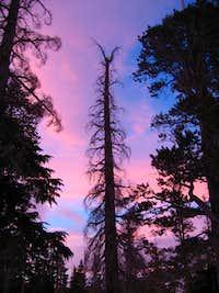 Sunset near Dick's Lake