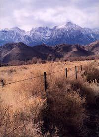 Lone Pine Peak from Owens...