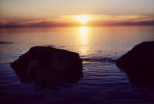Sunset on Lake Superior....