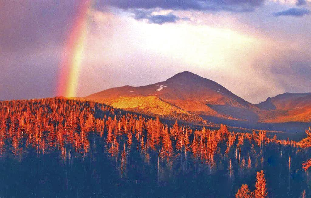 Rainbow over Mt. Dana