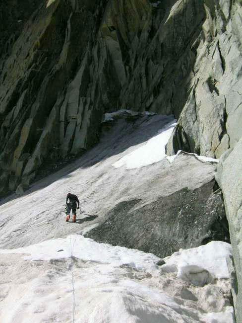 Jerone making the traverse,...