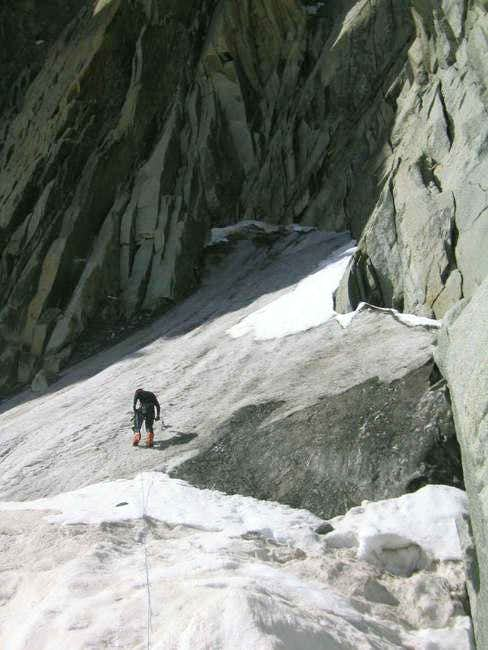 Jerone making the traverse,...