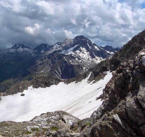Tschigat, Lazinser Rötelspitze and Hohe Weiße