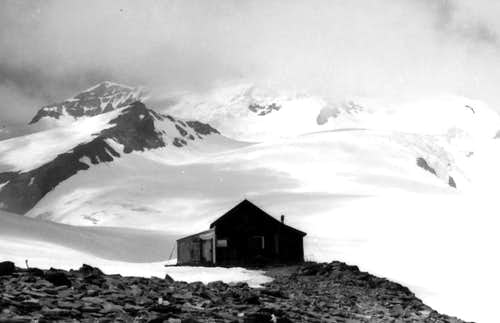 Old Sella Hut, Castore & Lyskamms in 1969
