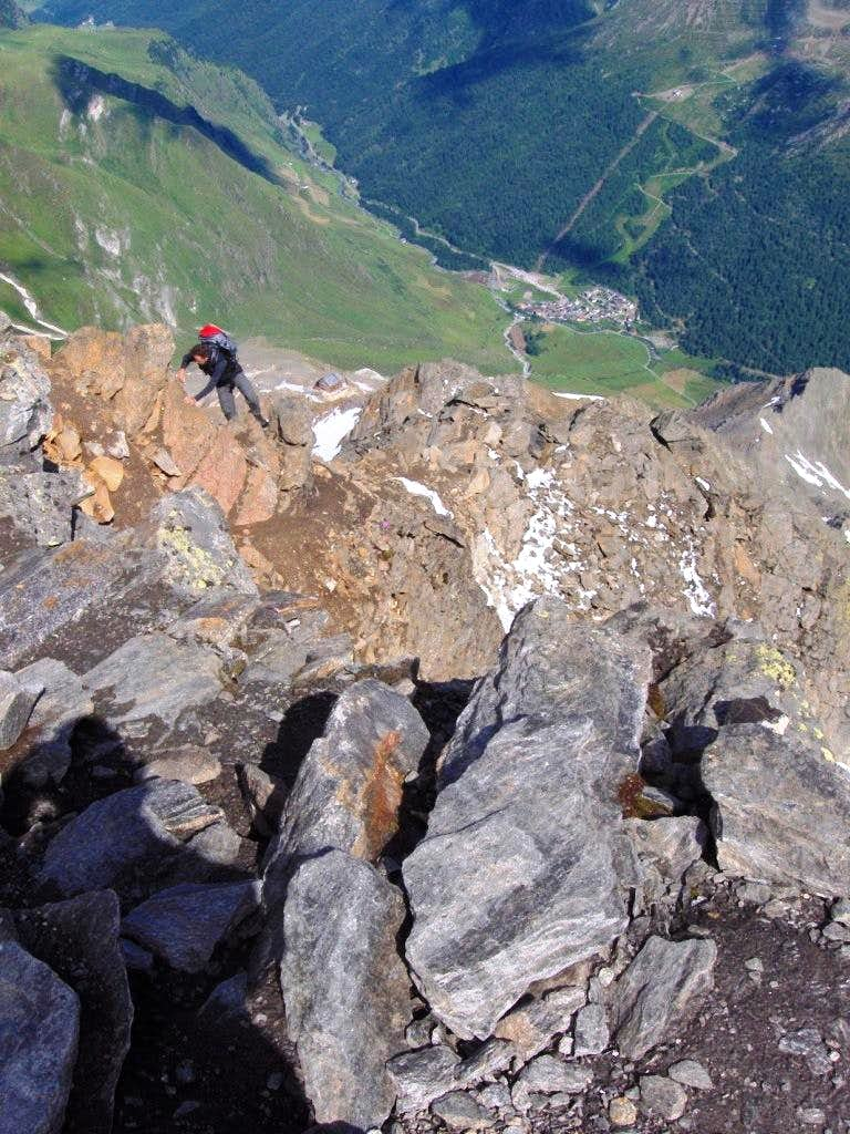 Scrambling on the Hinterer Seelenkogel
