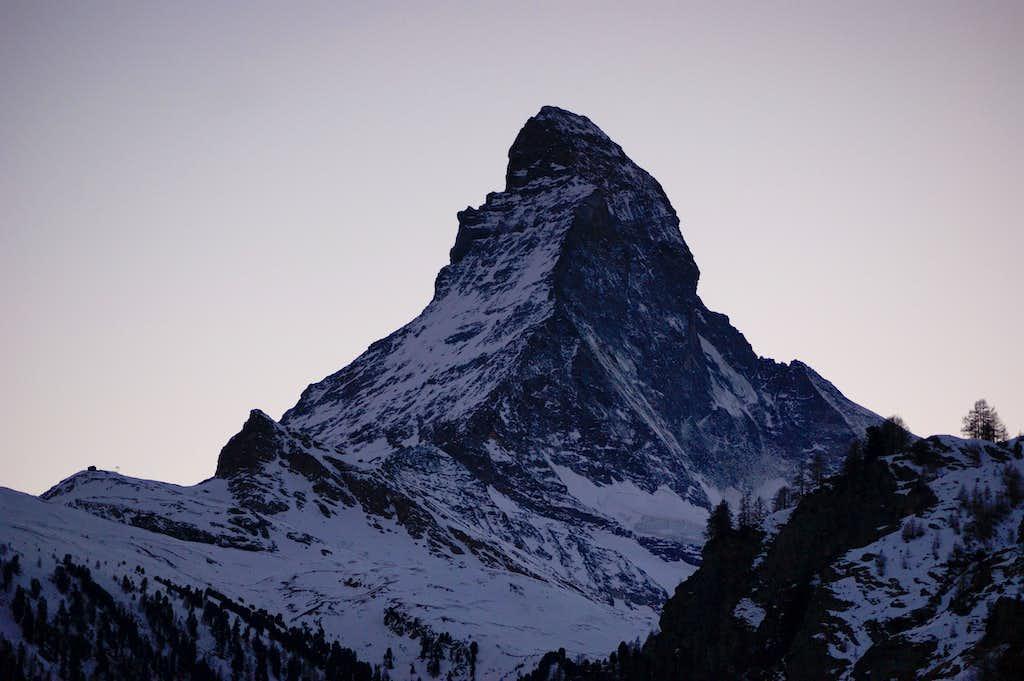 The Matterhorn after sunset
