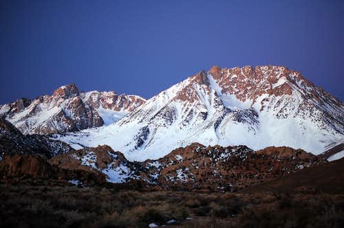 Humphreys & Basin Mtn at Sunrise