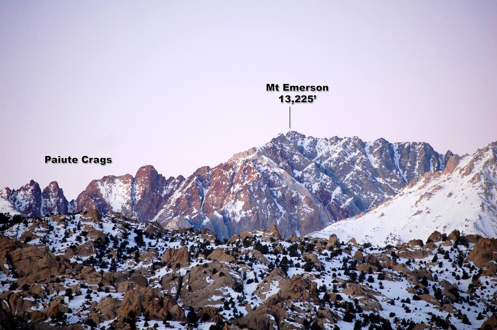 Paiute Crags & Mt Emerson at Sunrise