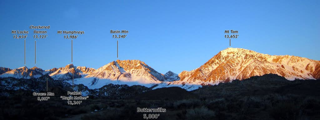 Eastern Sierra Panorama at Sunrise