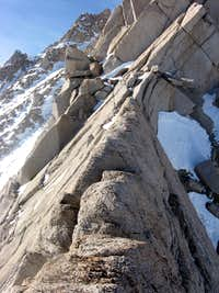 Peter Croft section on the Lower East Ridge