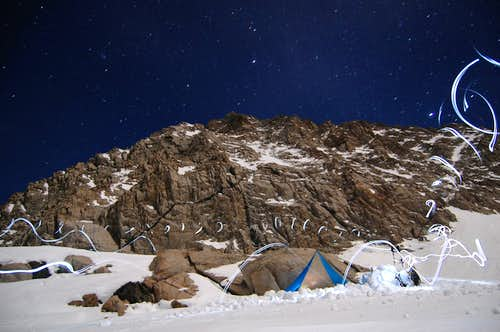 The Camp Below Magic McGee at Night