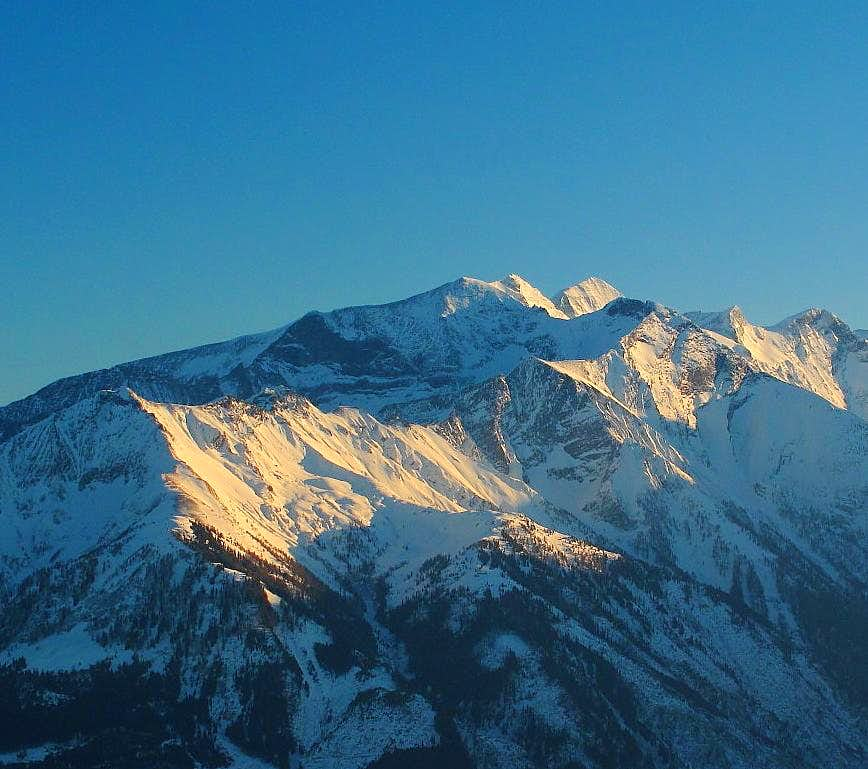 Northern part of the Glockner group in evening light