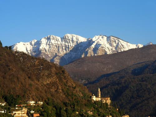 Monte Generoso winter view