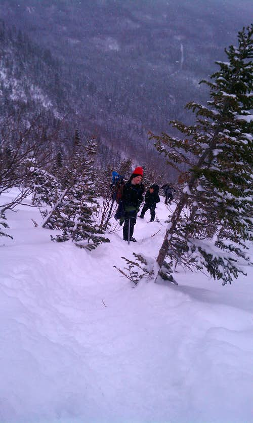 Hiking Mt Washington via Lions Head 2/27/11