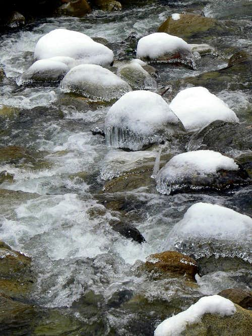 Ice Covered Rocks