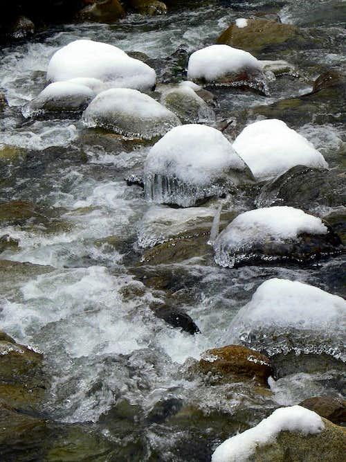 Ice Covered Rocks