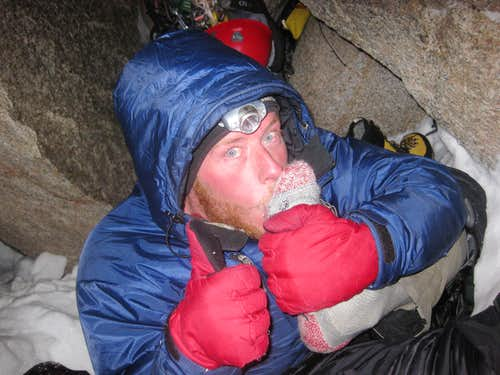 Mark in our bivy