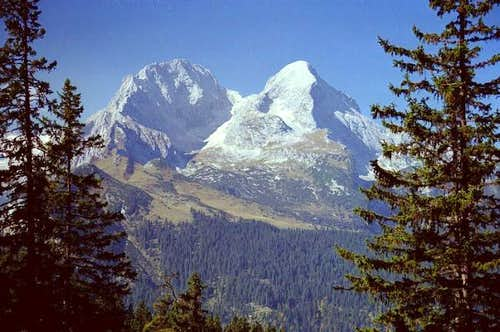 Alpspitze (right hand) and...