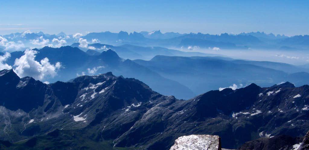 Dolomites panorama - more than 100km away