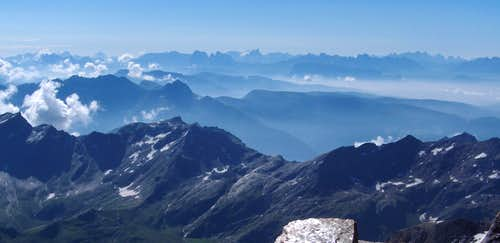 Dolomites panorama - more than 100km away
