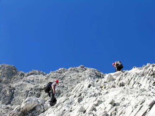 High up on the Watzmann East...