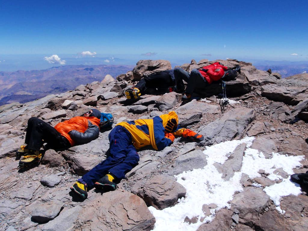 Exhausted On Top Of South America