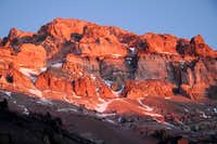 Sunset on Aconcagua west side - 6962 m