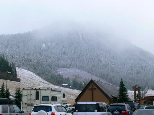 The Parking lot at Crystal Mountain