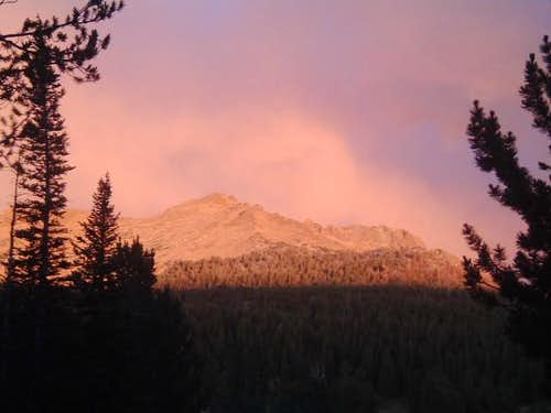 Alpenglow in the Wind River...