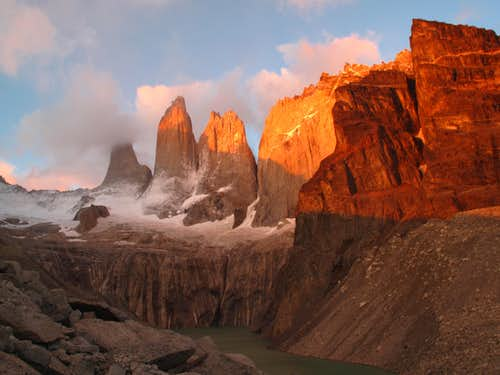 6:04am the Torres of Torres del Paine