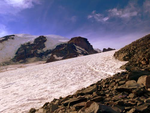Mount Rainier on the Way Up