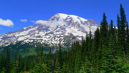 A Classic View of Mount Rainier