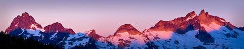 Sunset on Agnes & Gunsight