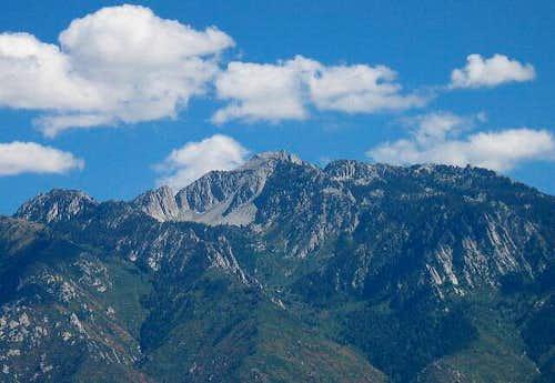 Lone Peak above Sandy Utah on...