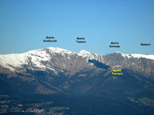 Monte Tamaro from SE