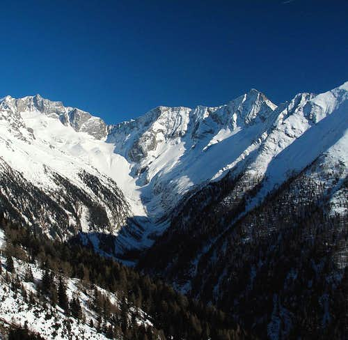 Winter view up Seebachtal valley